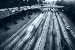 Freeway traffic Stock Photos
