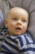 Stock Photo of Germany, Hesse, Frankfurt, Cute baby boy, close up