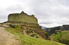 Ecuador, Quito, View of famous Incan archeological site - stock photo
