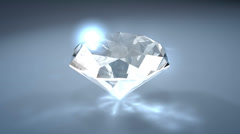 Gemstone diamond, with alpha matte. Stock Footage