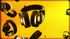 Headphones - stock footage
