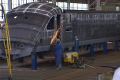 High speed rolling stock fabrication shop NTSC Stock Footage