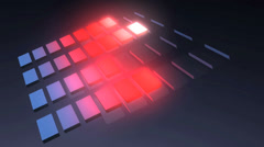 three dimensional music equalizer. - stock footage