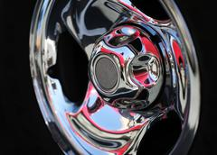 chrome rim detail - stock photo