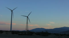 Wind Farm at Sunset Stock Footage