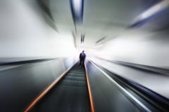 Abstract blurred motion interior Stock Photos