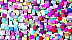 Abstract background cubes - stock footage