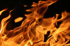 Stock Photo of blazing fire
