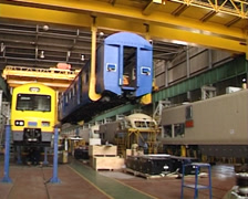 High speed rolling stock fabrication shop PAL - stock footage