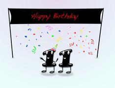 11th birthday party. - stock illustration