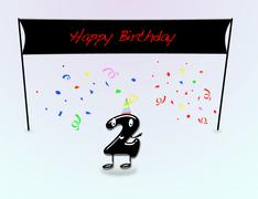 2th birthday party. Stock Illustration