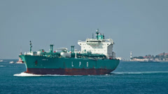 LPG Gas Carrier Stock Footage