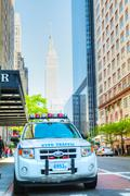 new york city police department (nypd) patrol car - stock photo