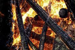 Blaze and fire, close up Stock Photos