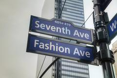 seventh avenue sign - stock photo
