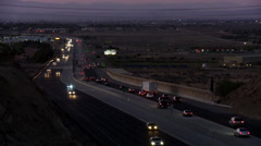 Clear focus palmdale freeway Stock Footage