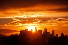 Los Angeles auringonnousu Kuvituskuvat