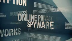 Online Privacy Related Terms Stock Footage