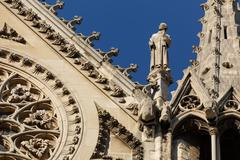 notre dame cathedral detail - stock photo