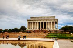 The lincoln memorial in washington, dc in the morning Stock Photos