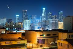 los angeles city - stock photo