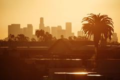 Los angeles in morning Stock Photos