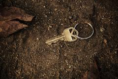 lost and found key - stock photo