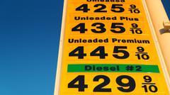 Stock Photo of gas prices