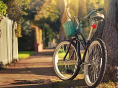 Bicycle in environment Stock Photos