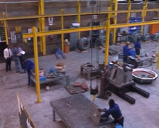 Industrial assembly plant PAL Stock Footage