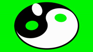 Stock Video Footage of rotating yin yang symbol