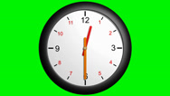 Stock Video Footage of clock handles going around 12 hours