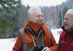 Stock Photo of Germany, Senior men in winter, smiling