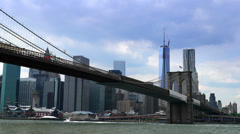 Ultra HD 4K Brooklyn Bridge Time Lapse Stock Footage