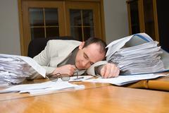 businessman felt asleep - stock photo