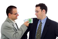 businessman or politician bribe - stock photo