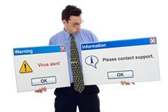 virus alert - stock photo