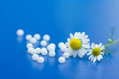 Homeopathic medication Stock Photos