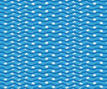 abstract blue wave water - stock illustration