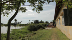Time Lapse - building a water well for poor school in Cambodia - stock footage