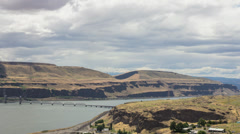 Columbia River Gorge Time Lapse in Maryhill Washington 1920x1080 Stock Footage