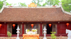 Temple of god in rural Asia Stock Footage