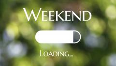 Loading Weekend with green bokeh as background Stock Footage