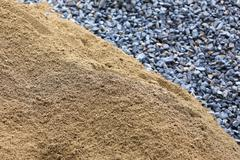 Sand and stone for construction work Stock Photos