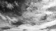 Stock Video Footage of Greyscale Clouds