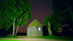 Magic house and starry sky, time-lapse Stock Footage