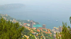 Principality of Monaco, top view, timelapse - stock footage