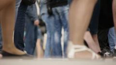 Legs in the street Stock Footage