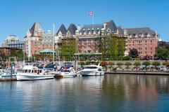The Empress Hotel, Victoria, British Columbia, Canada Stock Photos