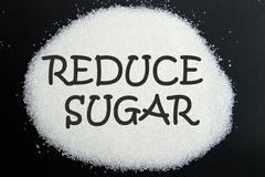 reduce sugar - stock photo